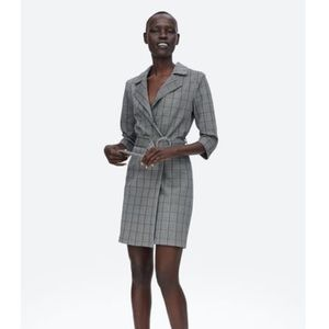 Belted Plaid dress from Zara